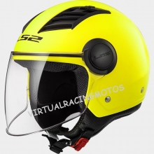 CASCO JET LS2 OF562 AIRFLOW SOLID H-V YELLOW