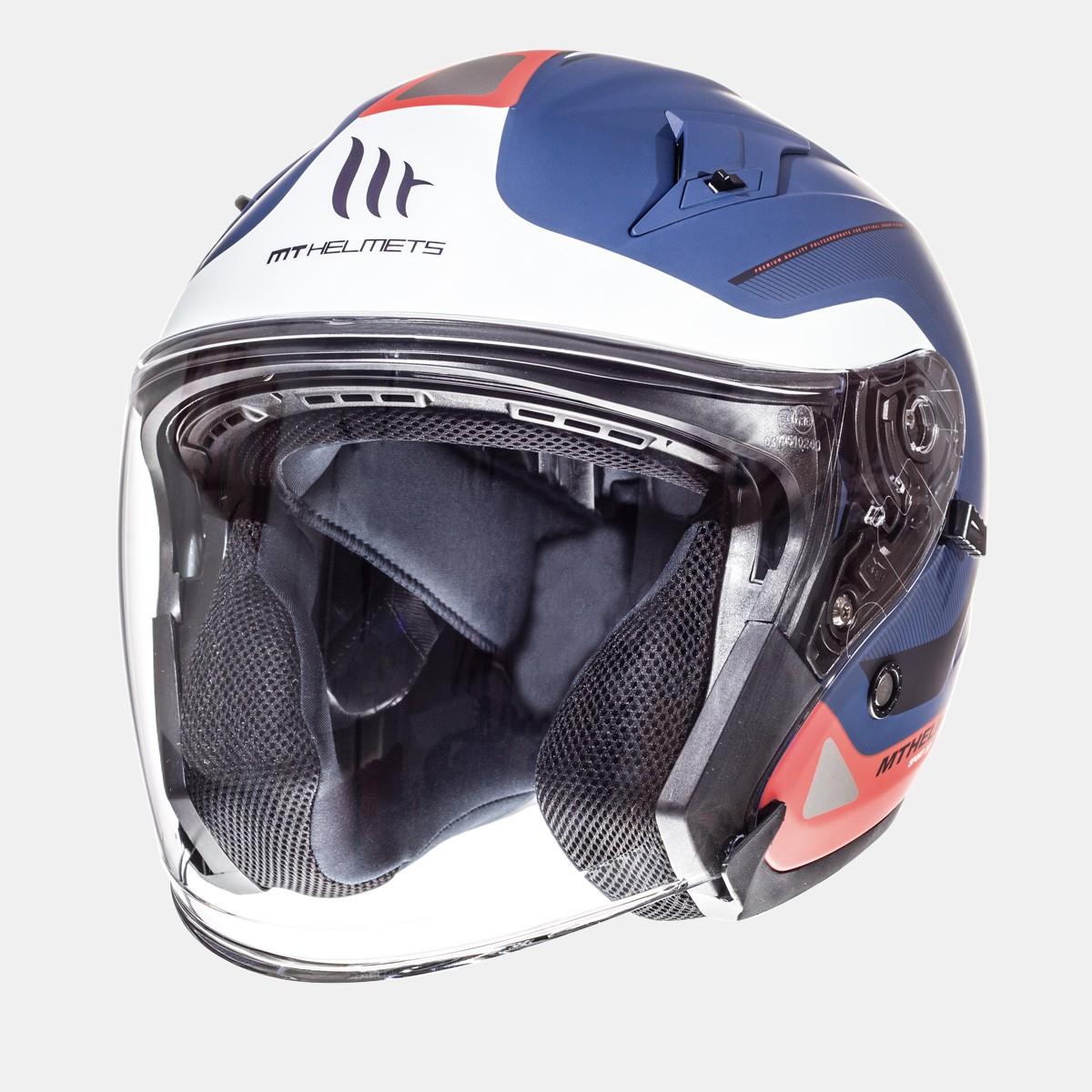 CASCO JET MT AVENUE CROSSROAD MATT PEARL WHITE DARK BLUE RED