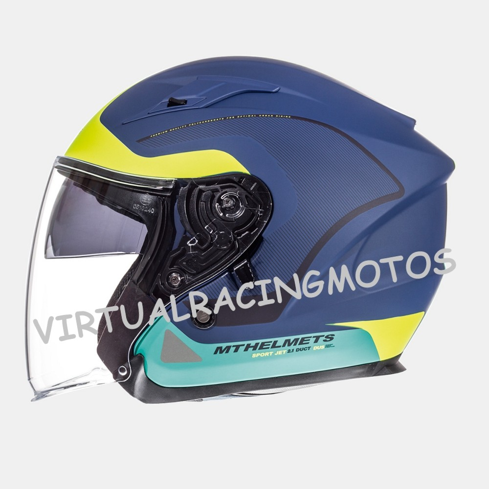 CASCO JET MT AVENUE CROSSROAD MATT DARK BLUE FLUOR YELLOW GREEN