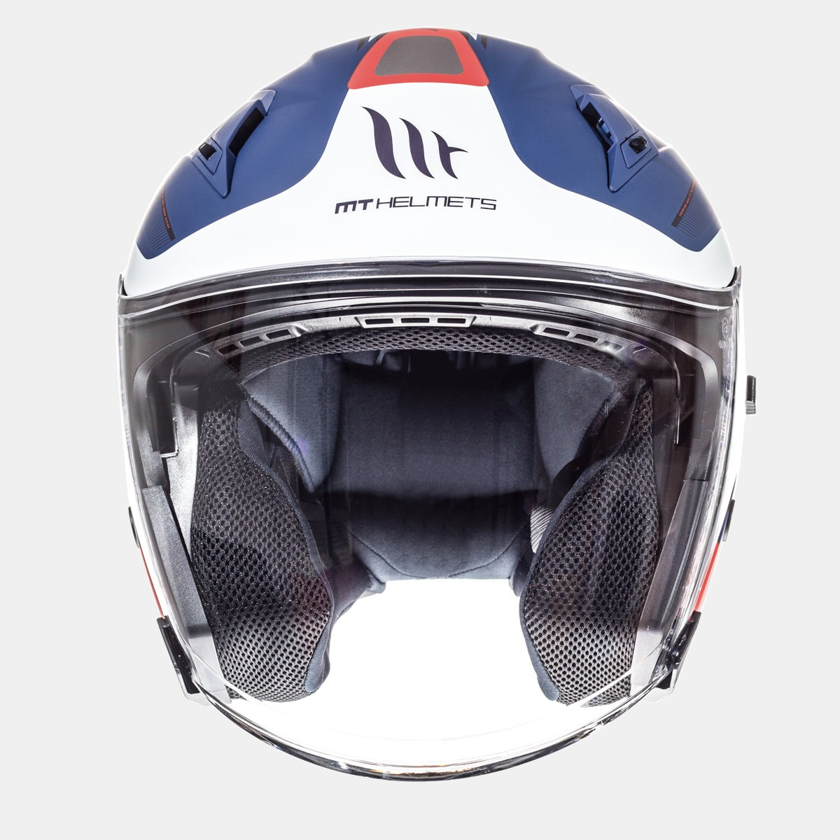 CASCO JET MT AVENUE CROSSROAD MATT PEARL WHITE DARK BLUE RED