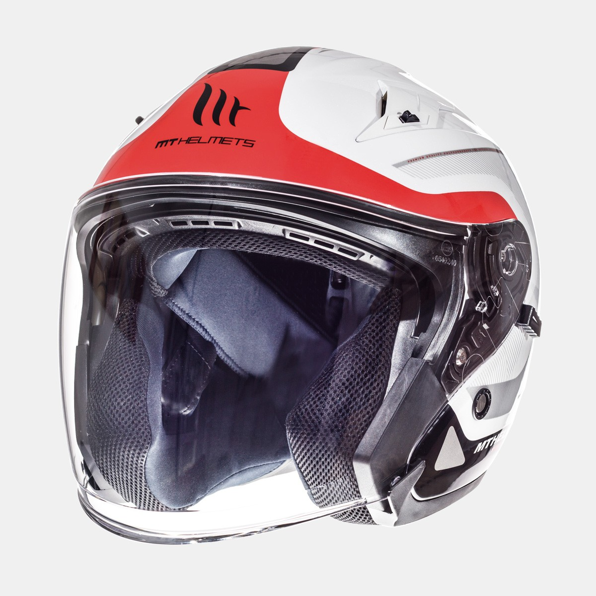 CASCO JET MT AVENUE CROSSROAD GLOSS PEARL WHITE RED
