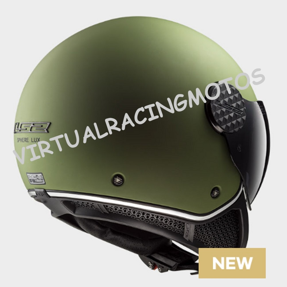 CASCO JET LS2 OF558 SPHERE LUX MATE VERDE MILITAR