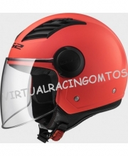 CASCO JET LS2 OF562 AIRFLOW NARANJA MATE