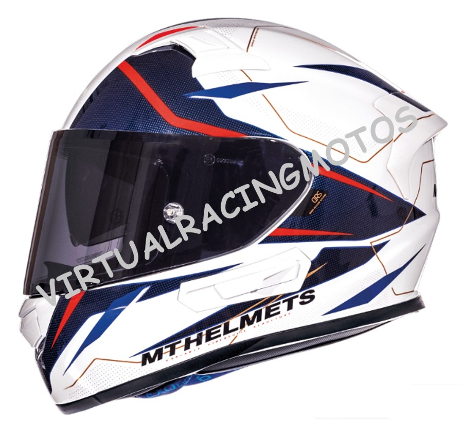 CASCO INTEGRAL MT KRE SV INTREPID B2 BRILLO PERLA ROJO FLUOR