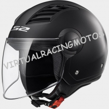 CASCO JET LS2 OF562 AIRFLOW SOLID NEGRO BRILLO