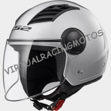 CASCO JET LS2 OF562 AIRFLOW SOLID PLATA