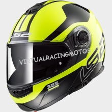 CASCO MODULAR LS2 FF325 STROBE ZONE BLACK H-V YELLOW