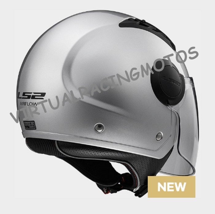 CASCO JET LS2 OF562 AIRFLOW L  PLATA